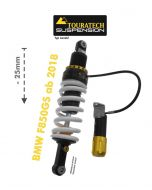 Touratech Suspension lowering shock -25 mm for BMW F850GS ab 2018 type Level2