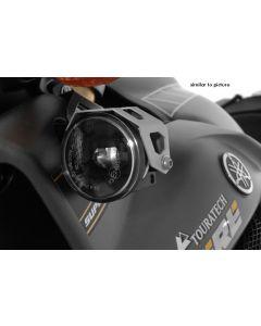 Set of LED auxiliary headlights, fog right/full beam headlight left, black for Yamaha XT1200Z Super Tenere