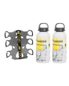 "ZEGA Pro/ZEGA Mundo accessory holder ""bottle holder"" double with 2x Touratech aluminum bottle 0.6 litres"