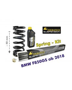 Height lowering kit, 40mm, for BMW F850GS/BMW F850GS Adventure from 2018 replacement springs