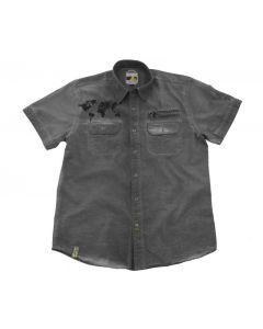 """Short sleeved """"1990"""" shirt, men, grey"""