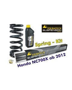 Hyperpro progressive replacement springs for fork and shock absorber for Honda NC700X from 2012 *replacement springs*