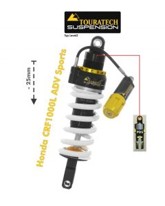 Touratech Suspension lowering shock (-25 mm) for Honda CRF1000L Adventure Sports from 2018 Type Explore HP/PDS