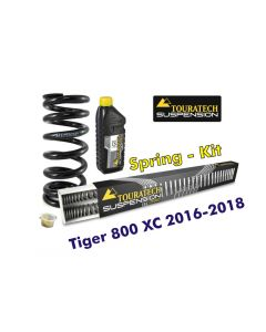 Progressive replacement springs for fork and shock absorber, für Tiger 800 XC / XCx / XCa 2016-2018