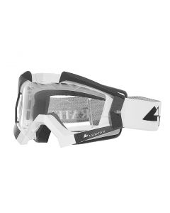 Touratech Aventuro Carbon goggles with Touratech strap, white