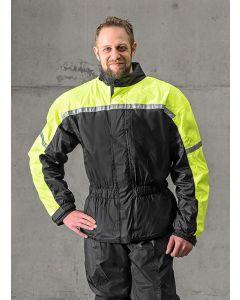 Rain jacket with membrane, black