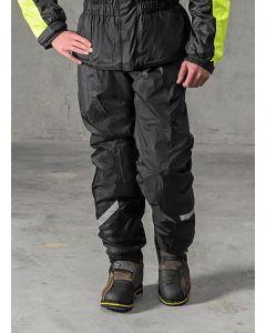 Rain trousers with membrane, black, size XXL